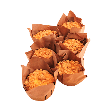 Apple Cinnamon with Crumble Topping Muffin