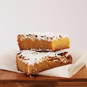 Slice Blondies (white chocolate & macadamia) (contains nuts)