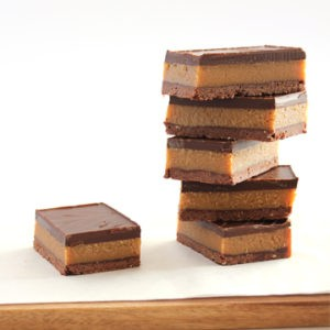 Slice Caramel & chocolate slice (egg free – contains nuts) Box of 12