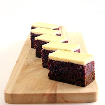Slice Coconut, cranberry & white choc slice (gluten free) Box of 6 or 12