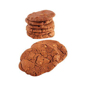 Double Chocolate & Roast Hazelnut Biscuits