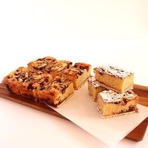 Slice Frangipani slice (contains nuts)