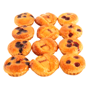 Frangipani Tarts (Raspberry, Blueberry, Pear) (contains nuts)