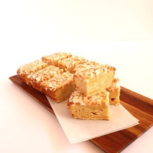 Slice Lemon coconut slice (contains nuts)