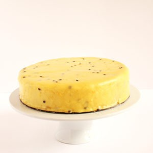 Cake Lemon & blueberry & polenta, passionfruit icing (gluten free – contains nuts)