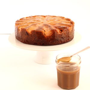 Cake Pear & sticky date (comes with a container of rich caramel sauce)